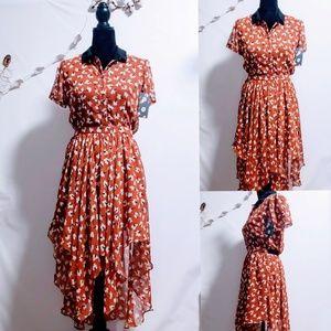 🆕Modcloth Louche Asymmetrical A-Line Dress S 🦄💋